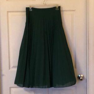 Midi pleated skirt